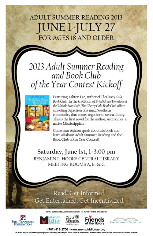 Memphis City Library Adult Summer Reading Program